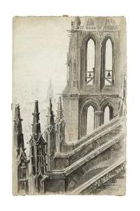 vue prise de la tour sud de la cathédrale de saint leu by charles samson