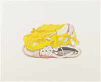 study for sneakers and yellow bra by tom wesselmann