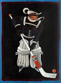 hockeyspelare by gösta (gan) adrian-nilsson