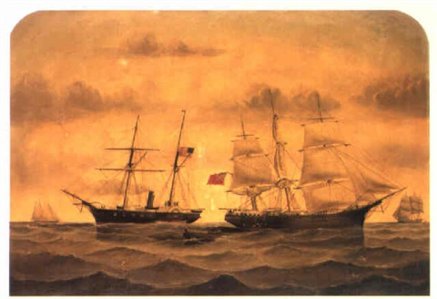 the capture of the emily st pierre off charleston march 1862 by william gay yorke