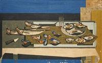 nature morte aux poissons by gustave camus