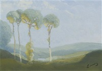 valley with trees by william c. emerson