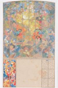 farbige entwurfsskizze by margret bilger-breustedt
