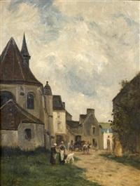 rue du village en pays de caux by stanislas lépine