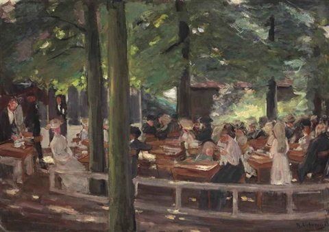 biergarten in laren studie by max liebermann