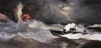 海战组画之二—击沉太平洋号 (naval battle series) by ai minyou