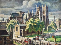 westminster abbey by adrian paul allinson
