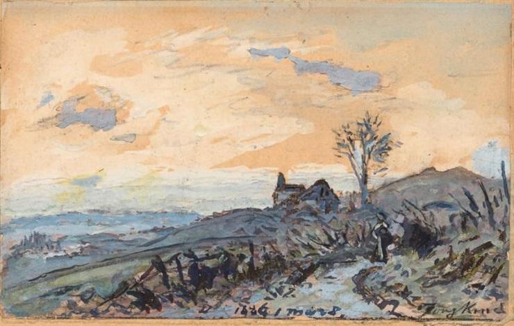 sur le chemin de la côte de saint andré by johan barthold jongkind