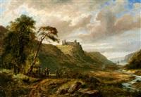 pennard castle, near swansea by ferdinand franz hoepfner