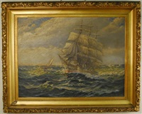 square rigger at sea by theodore victor carl valenkamph