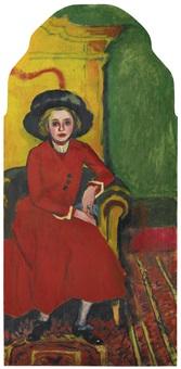 bildnis charlotte cuhrt (portrait of charlotte cuhrt) by max pechstein