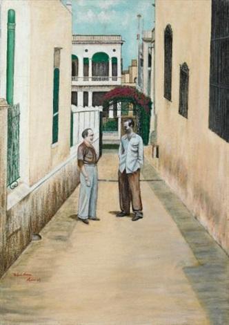 scène de rue by rafael moreno