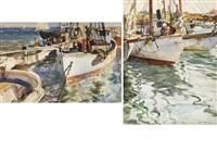 fishing boats (2 works) by john whorf