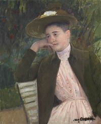 portrait of céleste by mary cassatt