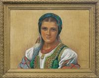 cracovian girl by piotr stachiewicz