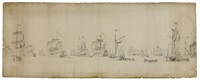 the dutch fleet near the doggerbank (on 2 joined sheets) by willem van de velde the elder