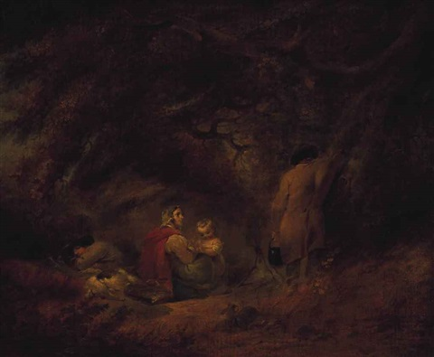 a gypsy encampment by george morland