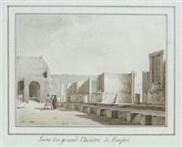 scène du grand théâtre de pompéi by le riche (leriche)