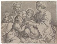 madonna mit kind, hl. elisabeth und johannes dem täufer by annibale carracci