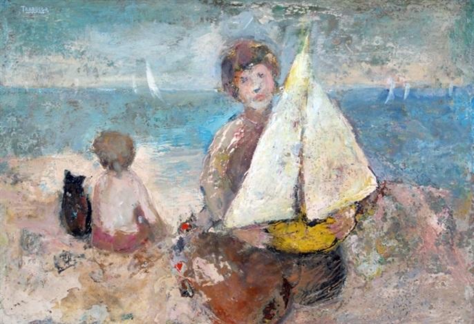 niños en la playa by alberto trabucco