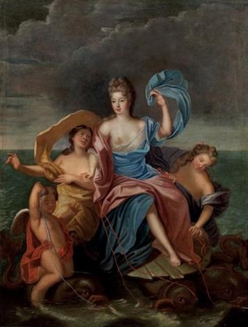triomphe damphitrite portrait présumé de françoise marie de bourbon mademoiselle de blois duchesse dorléans 1677 1749 by pierre gobert