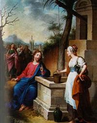 le christ et la samaritaine by konrad huber von weissenhorn