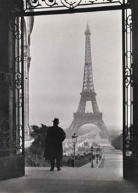 tour eiffel (from palais du trocadéro, paris) by clifton r. adams