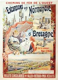 excursions en normandie et bretagne by gaston jobbe-duval