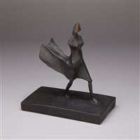 maquette viii, walking woman by lynn chadwick