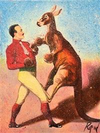 boxing kangaroo by dennis ropar