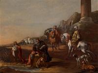 der diakon philippus tauft den kämmerer der königin von äthiopien by simon johannes van douw