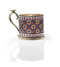 tea glass holder by antip ivanovich kuzmichev