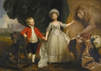 portrait of prince william, later 2nd duke of gloucester and edinburgh, and his elder sister, princess sophia of gloucester by benjamin west