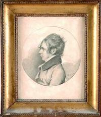 portrait de jeune homme de profil by jean baptiste joseph wicar