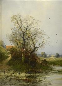 paysages fluviaux (pair) by heinz flockenhaus