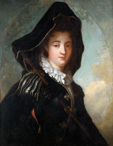 la marquise de moulins rochefort dit aussi portrait de femme en costume vénitien by jean baptiste santerre