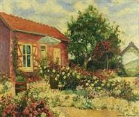 jardin fleuri à mousseaux-sur-seine by georges manzana-pissarro