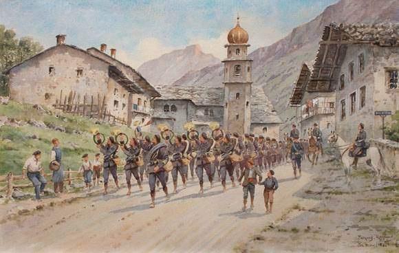 la fanfare des chasseurs alpins aux bréviaires près tignes by bernard rambaud