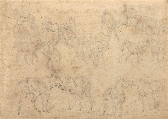 étude de chevaux study by théodore géricault