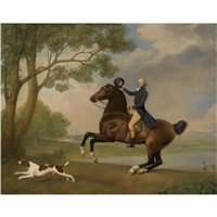 portrait of baron de robeck riding a bay hunter by george stubbs
