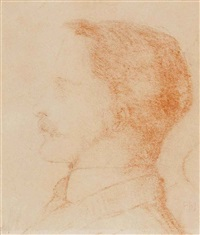 portrait study of a gentleman, thought to be the artist's son, philip burne-jones (1861-1926) by edward burne-jones