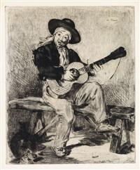 le guitarero (ou le chanteur espagnol) by édouard manet
