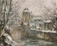 vue de l'église o.l.v. van hanswijk à malines by guillaume vogels