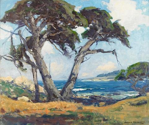 cypress and sea monterey cross by arthur hill gilbert