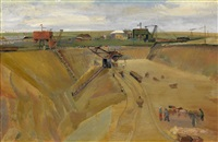 sand extraction pit in leschinovka by alexandr nikolaevich samokhvalov