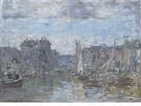 rotterdam. le pont de la bourse by eugène boudin