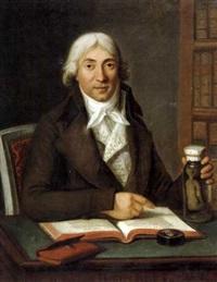 portrait du docteur vermond - accoucheur de marie antoinette by guillaume voiriot