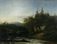 river landscape by george loring brown