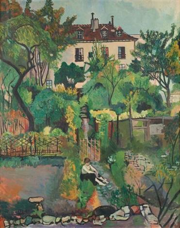 paysage à montmartre le jardin de la rue cortot by suzanne valadon