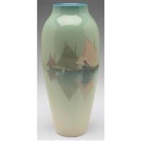 venetian harbor vase, #259d by carl schmidt